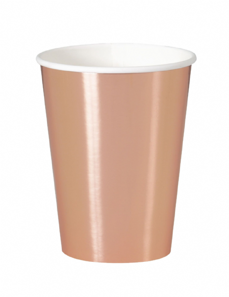 Rose Gold Paper Cups (8pk)